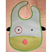 Water Proof Soft Washable Baby Feeder With Food Catcher - Green
