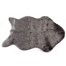 Super Soft Faux Sheepskin Chair Cover Warm Hairy Carpet Seat Pad Fluffy Rugs grey