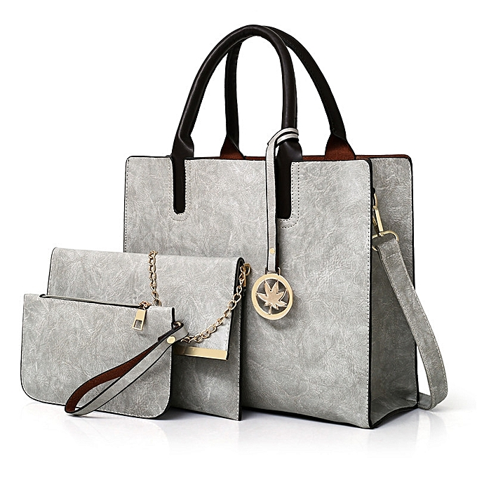 1c0d4d52e8f Fashion Women Large Tote Bags Ladies Shoulder Bag Handbag 3 Pcs ...