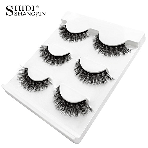 6cf6f88e953 Generic New 3 pairs natural false eyelashes fake lashes long makeup 3d mink  lashes extension eyemink eyelashes for beauty #X11(X08)