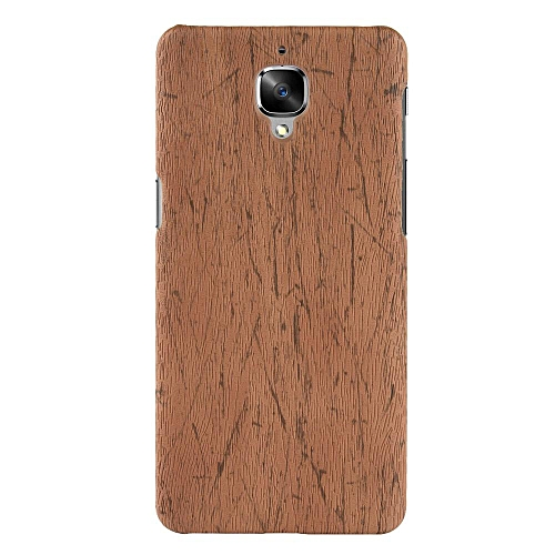 low priced 9d747 bd733 OnePlus 3 Case, [wood Texture] PU Leather + Hard PC Protective Case Cover  for OnePlus 3/OnePlus 3T