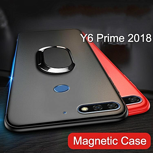 Ring Holder Case For Huawei Y6 Prime 2018 Luxury Ultra Thin Car Magnetic  Holder Silicone Cover For Huawei Y6 Pro 2018 Casing Housing 273447 c-1