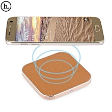 CW2 PU Leather Aluminum Alloy Frame Wireless Charging Station - Golden