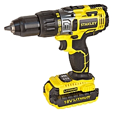 Cordless Hammer Drill with 18v Battery - Yellow & Black