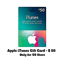 $50 Apple ITunes Gift Cards - USA