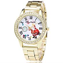Fashion Cute Santa Claus Women Quartz Steel Strip Wrist Watch Gift
