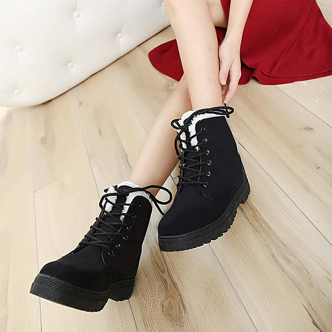e23acb25b71 birthpar store New Classic Women's Warm Shoes Snow Boots Fashion Winter  Short Boots-Black/