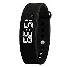 W5P Pedometer Sleep Tracker Temperature Display Fitness Tracker Smart Watches(Black)