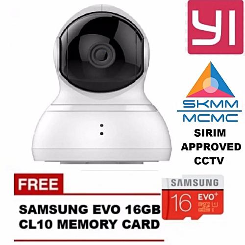 English Version XiaoYi Yi 360 Degree Pan Tilt Dome CCTV International  Edition Home IP Camera + SAMSUNG 16GB CL10 Bundle XINJIN