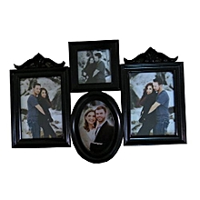 4 Piece Wall Picture Frame - Black.