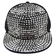 Fashion Sequin Baseball Cap Hiphop Snapback Hat For Unisex Men And Women Flat Brim Hats Colour:Sequin Silver Size:adjustable
