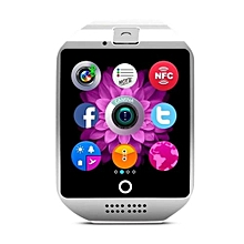 Bluetooth Smart Watch Q18 With Camera Facebook Whatsapp Sync SMS MP3 Smartwatch Support SIM TF Card For IOS Android Phone??lack??? -silver