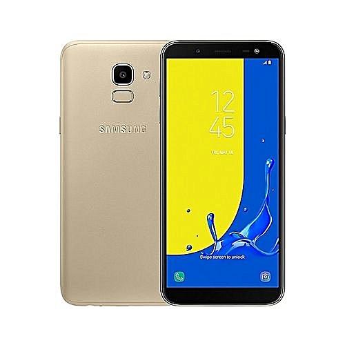 """Galaxy J6  5.6"""" ,3GB+32GB ROM),13MP + 8MP Dual SIM 4G  - Gold"""