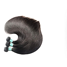 Brazilian Straight Human Hair 3 Bundles 100% Remy Hair Weaves Natural Black Color 20 22 24inches