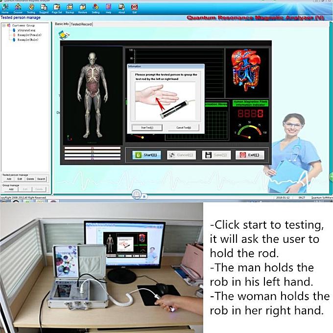 Human Sub-Health Monitor Diagnostics Health Analyzer Quantum Bioresonance