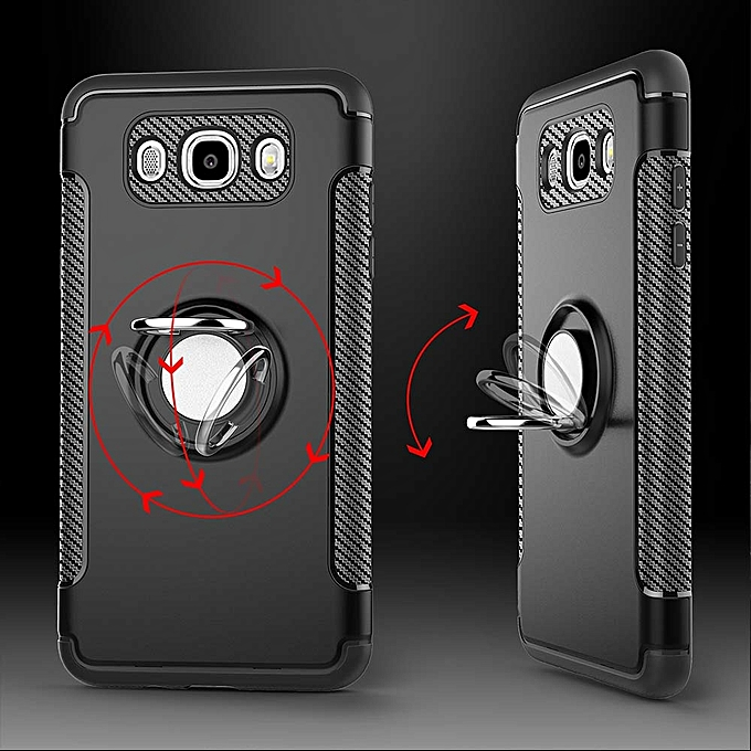 For Samsung Galaxy J5 2016 Case Car Magnetic Holder Phone Housing PC Rotatable .