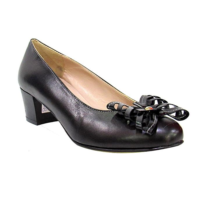 d22506372f4 Black Low Heel Ladies Shoe Black Low Heel Ladies Shoe ...
