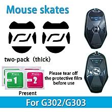 2 sets Teflon 0.6mm 3M Mouse Feet mouse Skates for Logitech G302 G303 Mouse