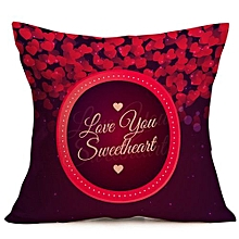 Valentine's Day Fashion Throw Pillow Cases Cafe Sofa Cushion Cover Home Decor E