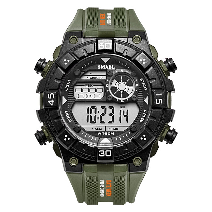 2cc5456750 Brand Luxury Mens Watches Electronic Digital Watch Men LED Army Military  Waterproof Sport Watches Clock Relogio Masculino(Army Green)