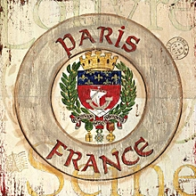 Canvas Print Nautical Wall Picture 40X40cm Rolled -  French Coat Of Arms Painting