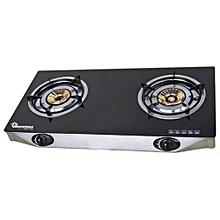 RG/535-Ceramic Top 2 Burner Gas Cooker-Black