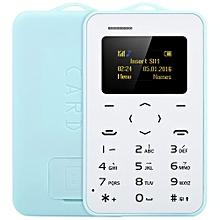 1.0 inch  C6 Card Phone Bluetooth 2.0 Calendar Alarm Calculator-LIGHT BLUE
