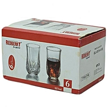 6 Pcs Drinking Glasses Set - Clear