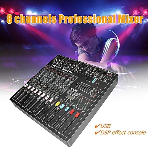 Professional 8 Channel Karaoke DJ Live Studio Audio Sound Mixer Mixing