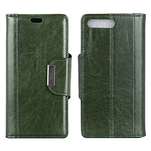the latest 64f74 0ce9c BlackBerry KEY2 LE Case,[Simple Retro Style]Soft Leather Flip Folio Slim  Wallet Cover [Iron Buckle][Credit Card Slot][Kickstand] Case for BlackBerry  ...