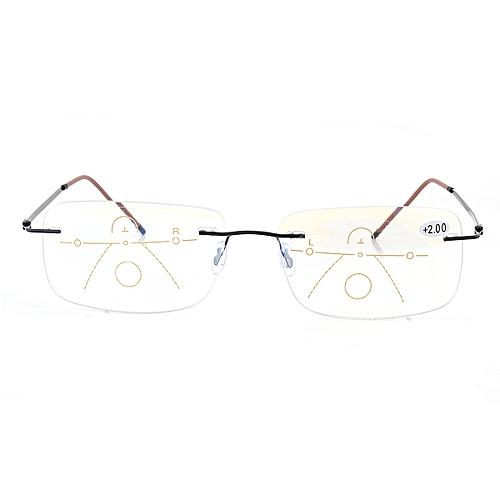 906c35e1a26 Generic Minleaf Rimless Progressive Multifocal Presbyopia Intelligent Best Reading  Glasses Resin Lens