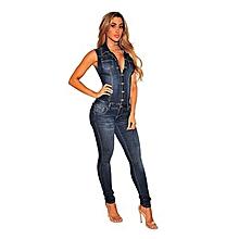28828aab5c Jumpsuits Jeans Women Denim Overalls Shirt Rompers Girls Pants Jeans  Bodysuit-Blue