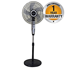 "MFS1621/SB - Stand Fan, 16"" - Silver & Black."