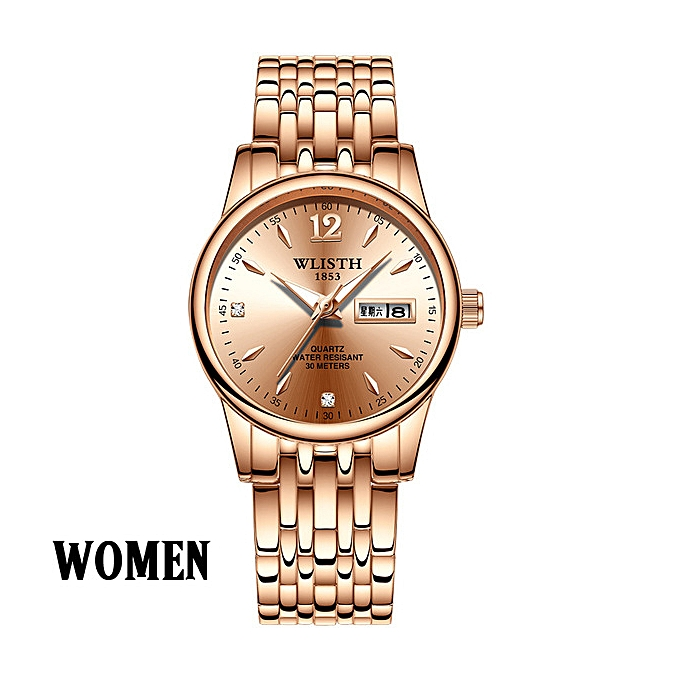 92003106f Women Formal Watches Stainless Steel Ladies Wristwatches Week Date Quartz  Clock
