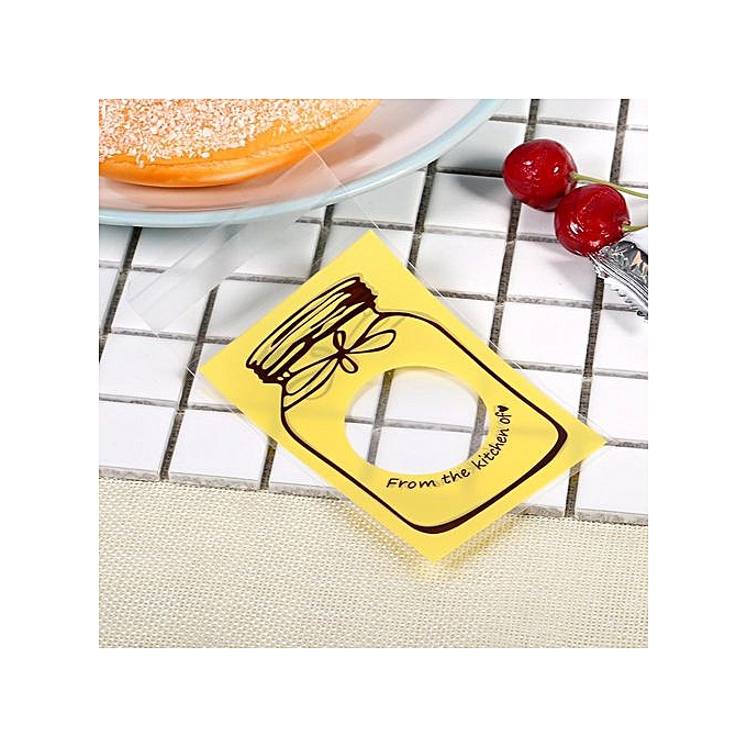 ... 100pcs Lovely Plastic Candy Biscuit Gift Packaging Bag(Yellow) ...