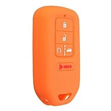 SILICONE CAR KEYLESS REMOTE KEY FOB COVER FIT FOR 2015- HONDA CIVIC ACCORD PILOT (Orange)
