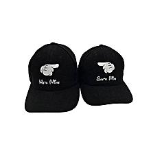 Couples Caps -Black
