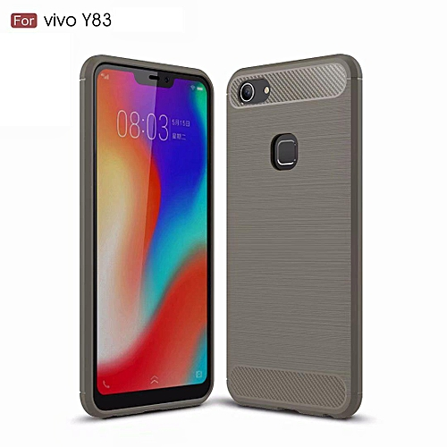 new concept e43b7 95a99 Carbon Fiber Silicone Brushed Anti-knock Cell Phone Back Cover TPU Soft  Case For Vivo Y83