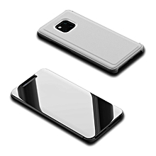 "Huawei Mate 20 Pro Case,Luxury Translucent View Mirror Case Flip Electroplate Stand Smart Cover for Huawei Mate 20 Pro 6.39"" -Silver"