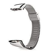 Mijobs Stainless Steel Watch Strap Replacement for Huawei for Honor 3 Band silver