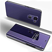 Samsung Galaxy J8(2018) Leather Case, Pu Leather Flip Case Cover For Samsung Galaxy J8(2018) With Stand Function And Plating Mirror - Purple.