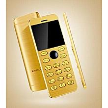 Mini Phone Metal Ultra thin Bluetooth 2.0 Dialer MP3 Dual SIM Card Mini Phone 1.54Inch Phone-gold