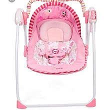Electric baby swing chair musical baby bouncer swing newborn baby swings automatic baby swing rocker-Pink