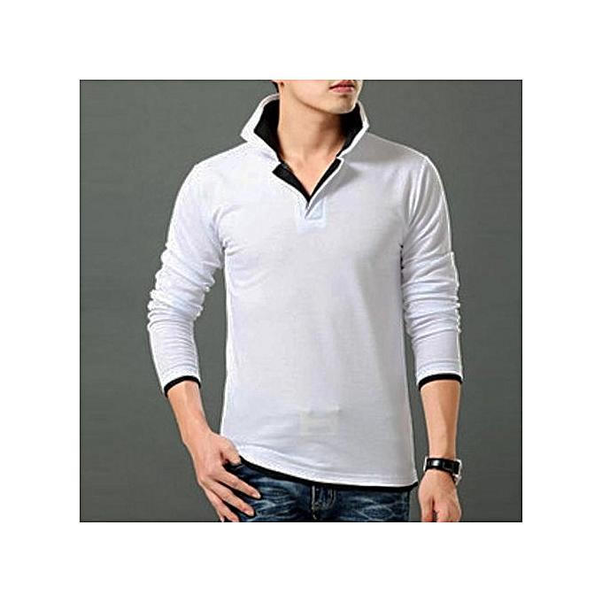 3a3e4bfe Men Slim Fit Long Sleeve Stylish Long Sleeve T-Shirt Casual Shirts Tee Tops
