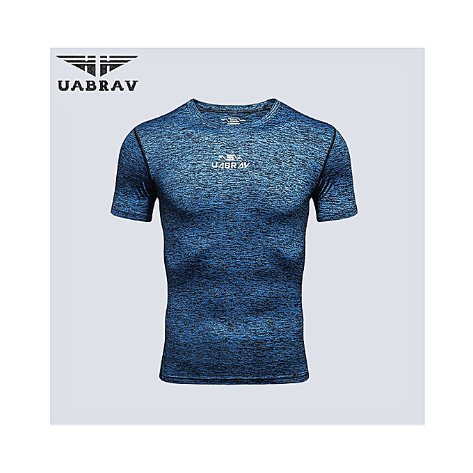 Men s Quick Dry Short Sleeve T-Shirt Running Fitness Shirts Workout  Athletic Compression Shirts d9b094b461d