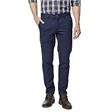 Khaki Trousers/Pants - Deep Blue Colour - Slim