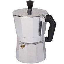 High Quality Aluminum Moka  Maker Espresso  Pot(Silver)
