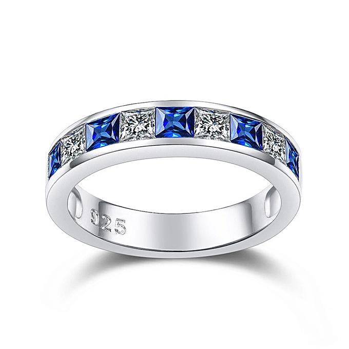 7c9e8ee15 Generic The blue precious stone S925 pure silver ring female exquisi ...