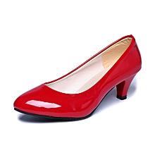 Nude Shallow Mouth Women Office Work Heels Shoes Elegant Ladies Low Heel RD/35