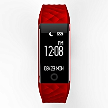 S2 Bluetooth 4.0 Smart Wristband Band Heart Rate Monitor Sport LED Smartwatch RD